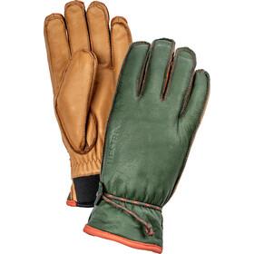 Hestra Wakayama 5-finger handsker, grøn/brun
